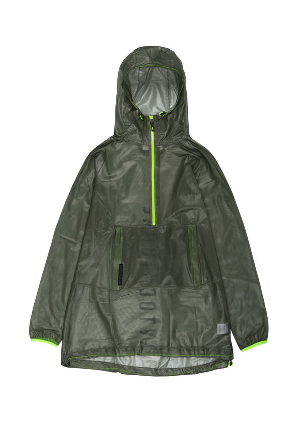 Autochtonae people raincoat unisex olive front
