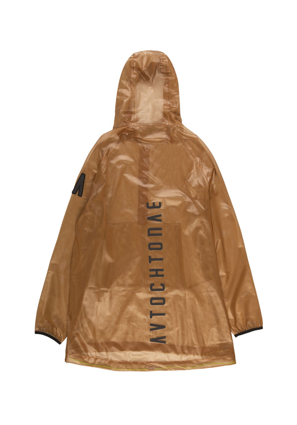 Autochtonae people raincoat unisex tobacco back