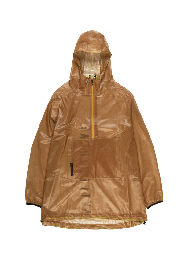Autochtonae people raincoat unisex tobacco front