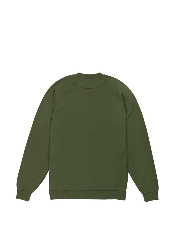 Autochtonae people sweatshirt men olive back
