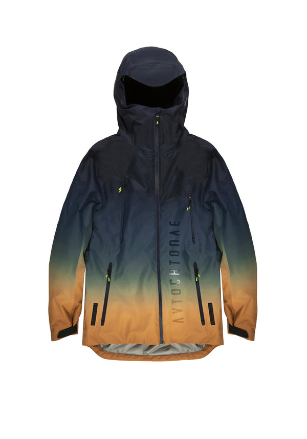 Autochtonae snow gradient jacket men blutobacco front