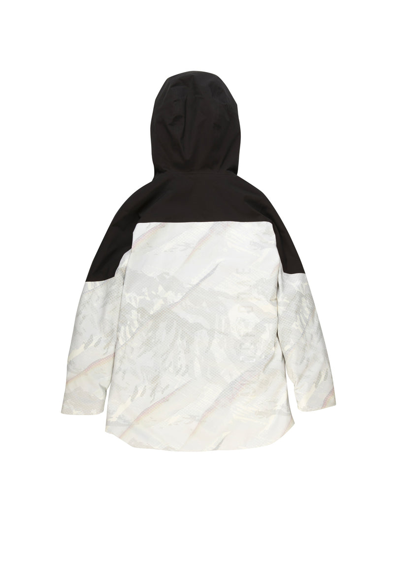 Autochtonae snow jacket women black white back