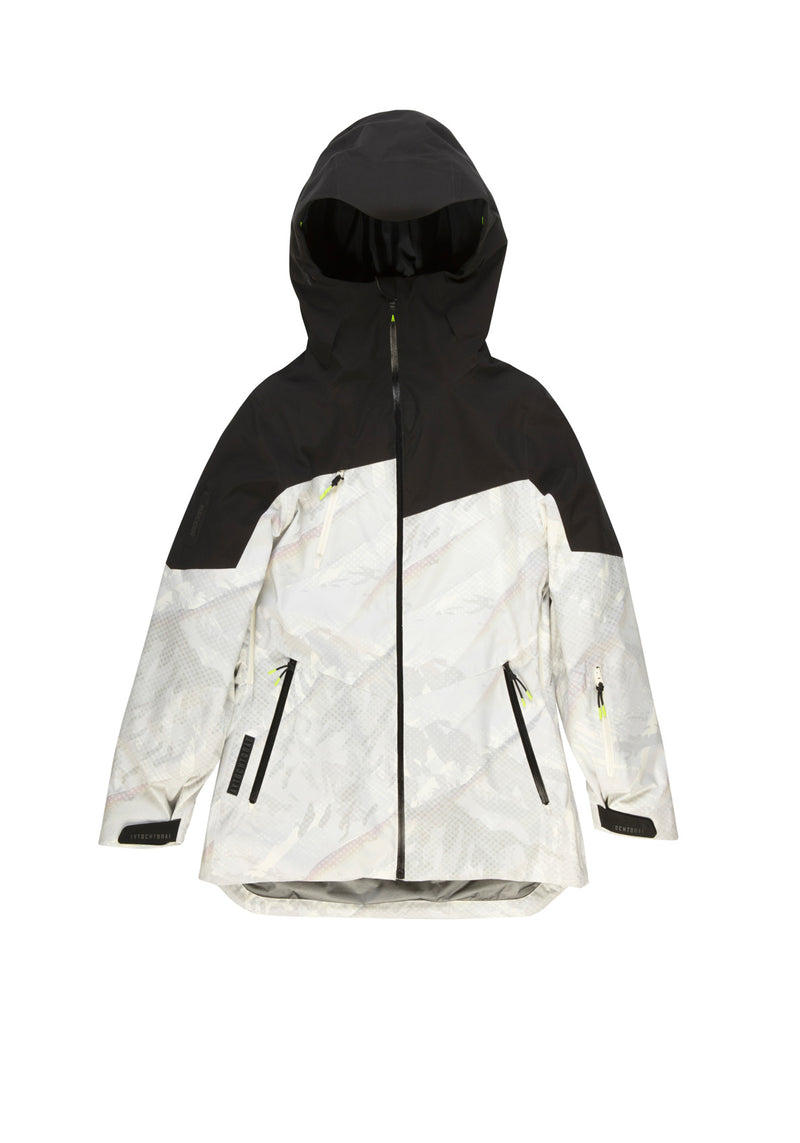 Autochtonae snow jacket women black white front