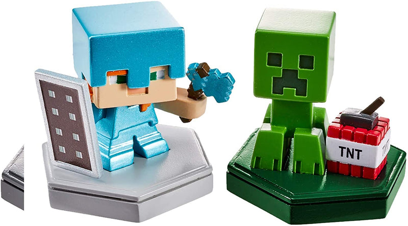 MINECRAFT EARTH BOOST MINIS DEFENDING ALEX & MINING CREEPER Mini Figures 2-Pack