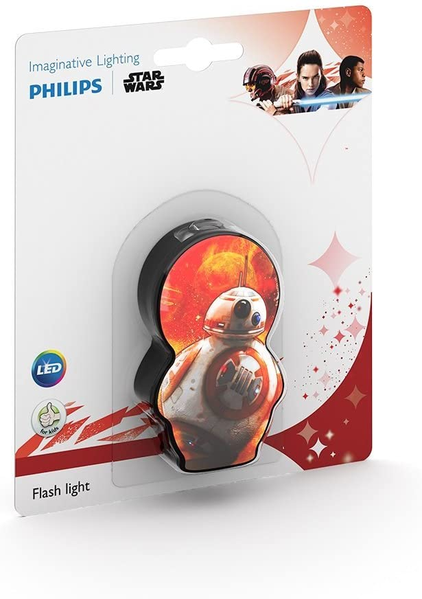 Philips Star Wars BB-8 Children's Pocket Torch and Flash Light, Synthetics, 0.3 W, Black