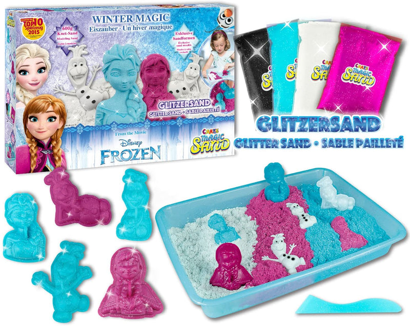Disney Frozen CRAZE Kinetic indoor kneading play sand, The ice queen Sand, 600g Magic Sand, Multi-coloured