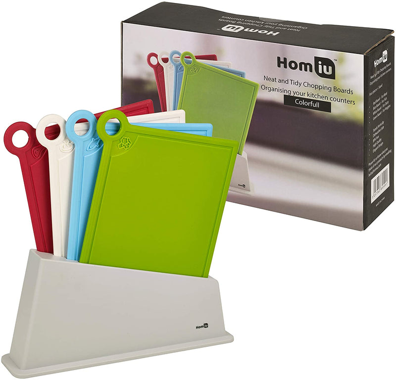 Homiu - Standing 5 Piece set Chopping Boards (Colourful)