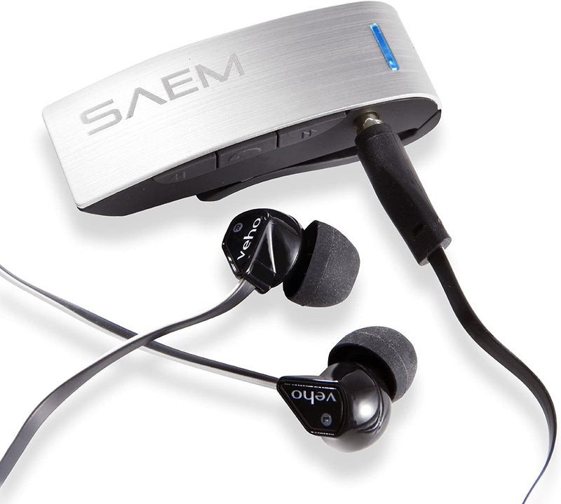Veho VBR-001-S SAEM S4 Wireless Bluetooth Receiver with Track Control and Mic