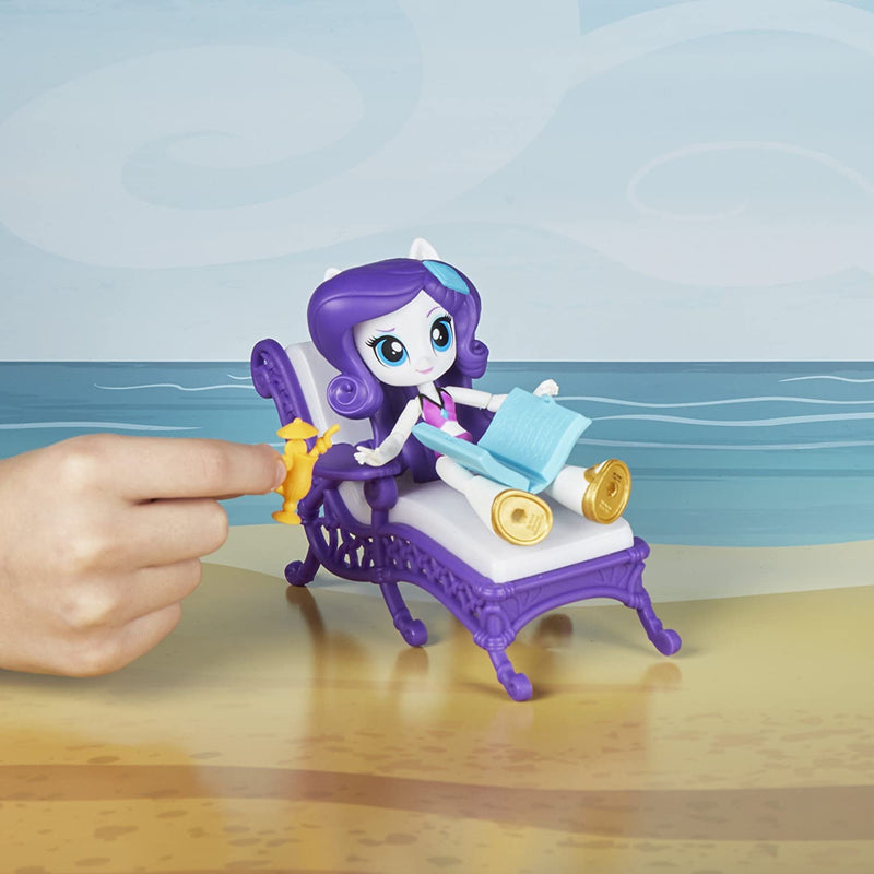 MY LITTLE PONY Equestrian girls Rarity Relaxing Beach Lounge Set includes beach-themed accessories