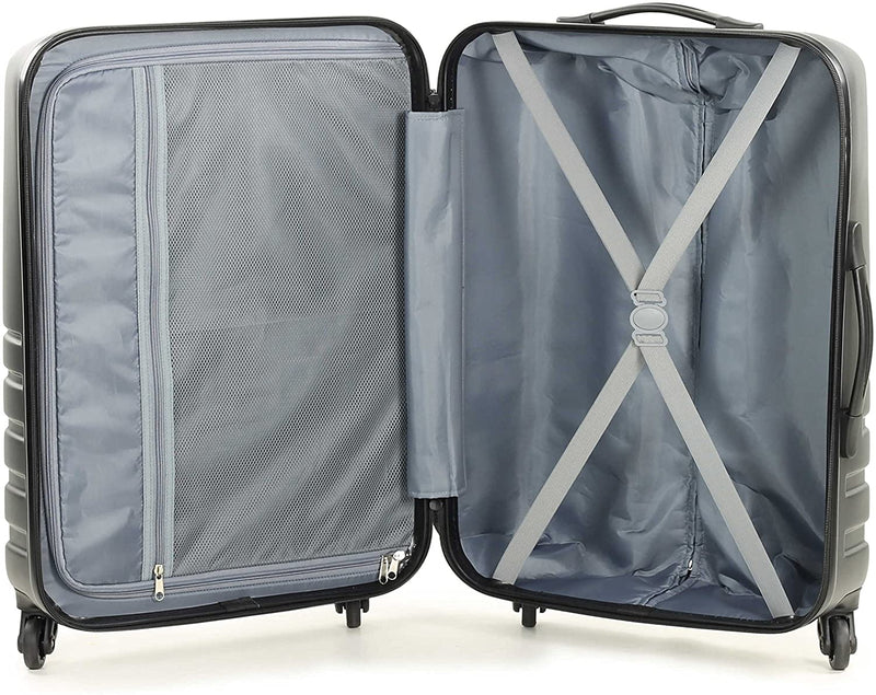 Rock Byron 64cm Hardshell Four Wheel Spinner Suitcase Navy
