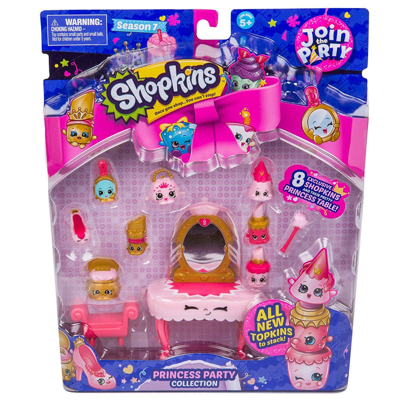 Shopkins Join the Party Season 7 PRINCESS PARTY Collection with 8 Excl. Shopkins