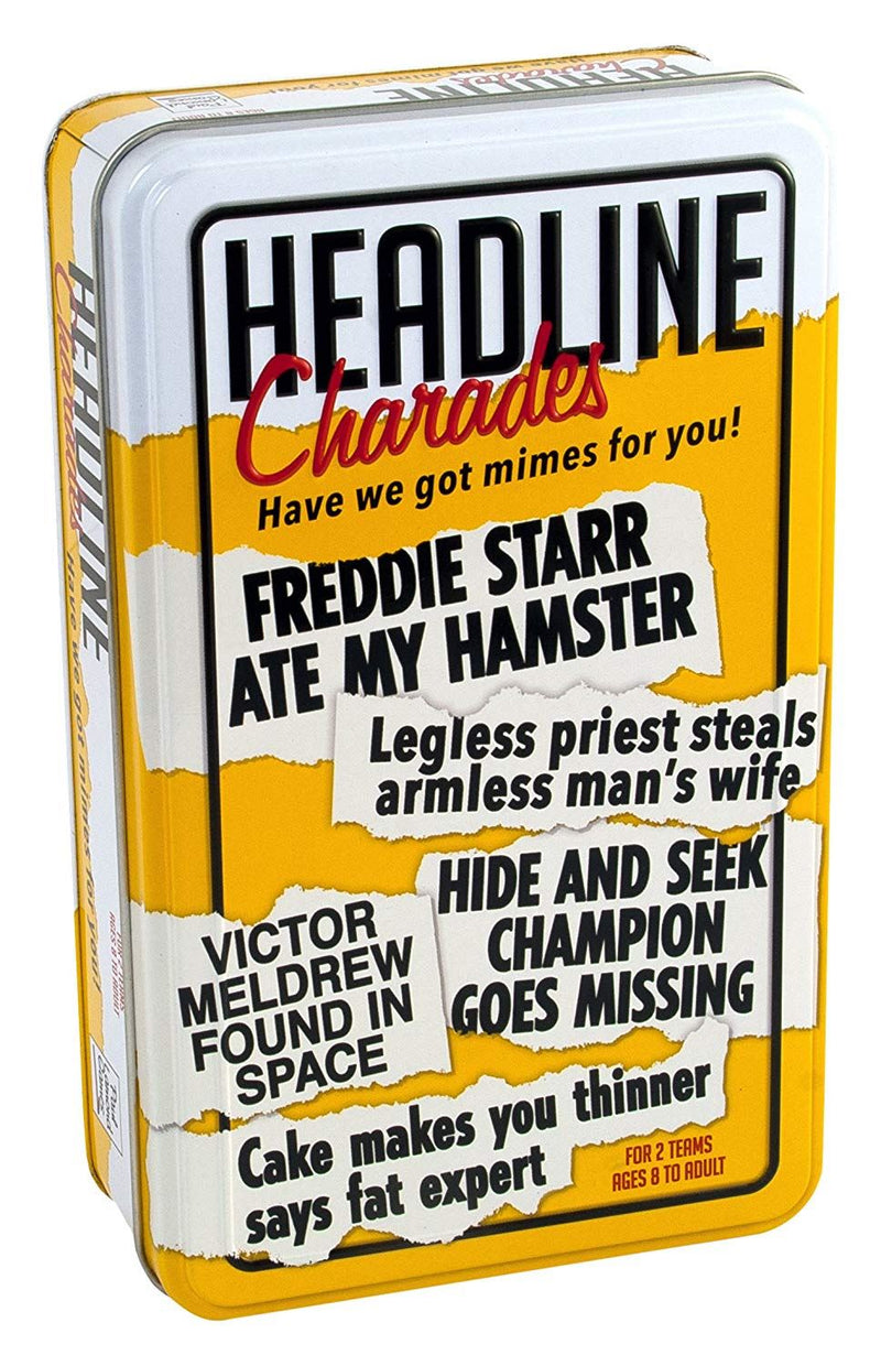 "Paul Lamond 6255 ""Headline Charades Tin Trivia Game"