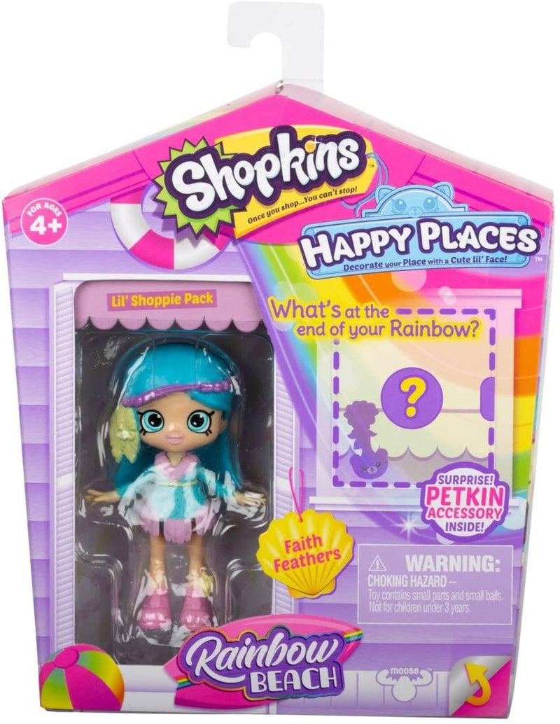 Shopkins Happy Places Rainbow Beach Faith Feathers