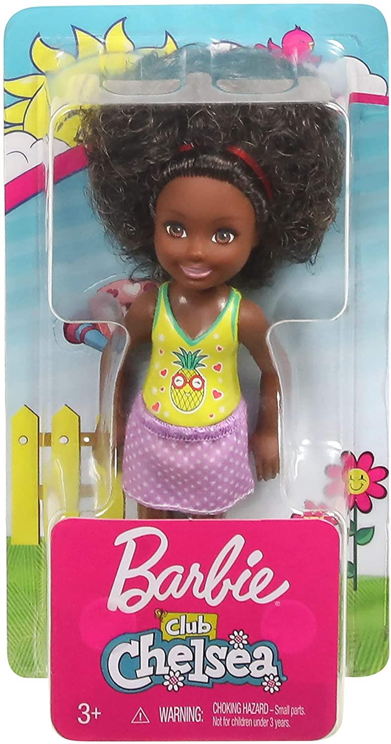 Barbie FXG76 Club Chelsea Doll, 6 Inch, Curly Brunette Hair