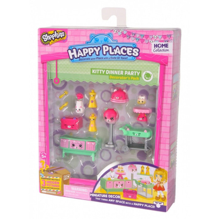Happy Places Shopkins Season 1 Decorator Pack - Kitty Dinner Party