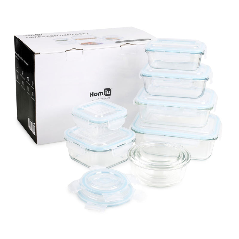 Homiu glass container 9 pcs set