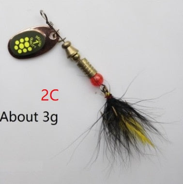 Feather Hooks Sequin Sea Fishing Lure