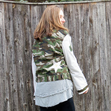 Load image into Gallery viewer, camo + cord patched jacket