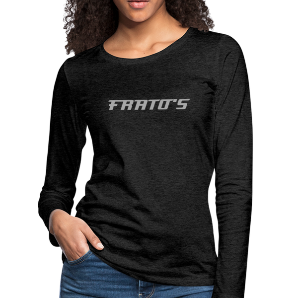 Frato's - Women's Premium Long Sleeve T-Shirt - charcoal gray