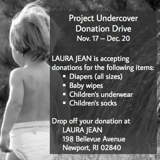 Project Undercover Donation Drive