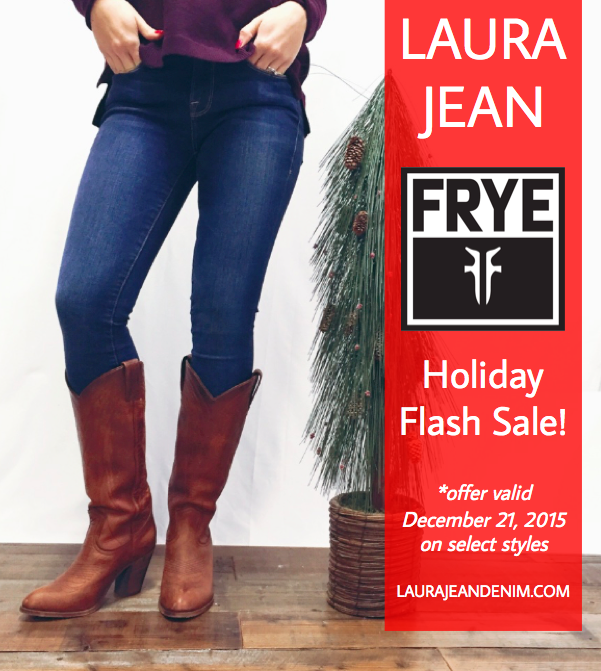 Holiday Frye Flash Sale!
