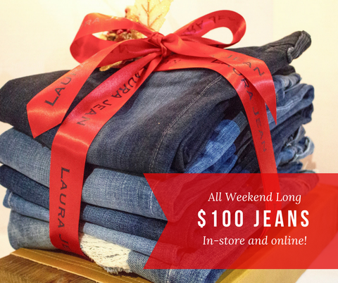 $100 Premium Denim - Laura Jean Denim