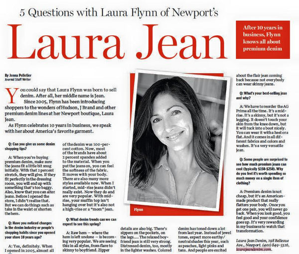 Laura Jean Providence Journal feature