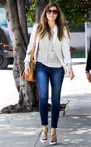 Actress Jessica Biel Wears AG Jeans