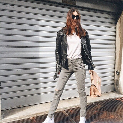Fashion blogger Jessica Manfield loves her J Brand in Silver Fox