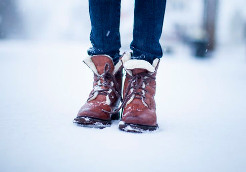 Shearling lined boots by Frye