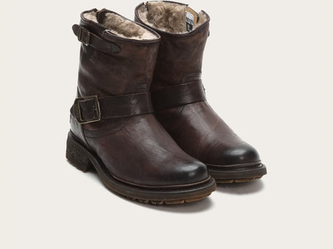 Frye Valerie 6 in Dark Brown with shearling