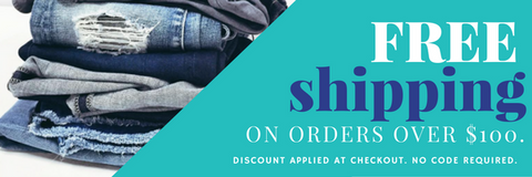 Free Shipping on orders over $100 - Laura Jean Denim