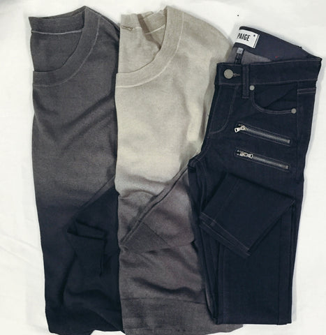Chan Luu ombre sweaters and Paige Denim