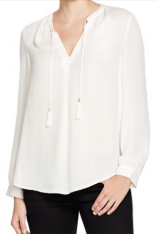Joie Calla Silk Blouse in Porcelain
