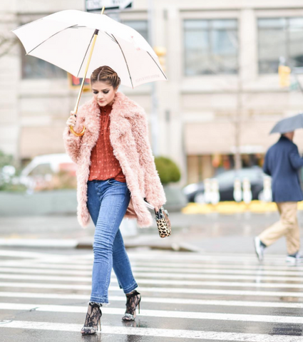 Thassia Naves street style at New York Fashion Week