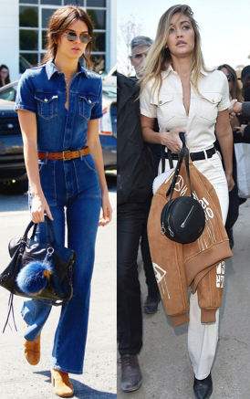 FRAME Denim jumpsuit Kendall Jenner and Gigi Hadid