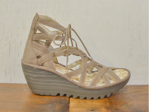 Fly London Yuke Strappy sandal wedge