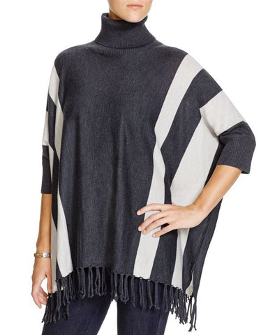 525 America Striped Turtleneck Poncho