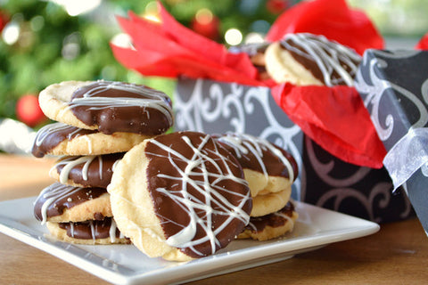 Chocolate Dipped Shortbread Cookie Recipe