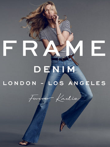 Model Karlie Kloss for FRAME Denim