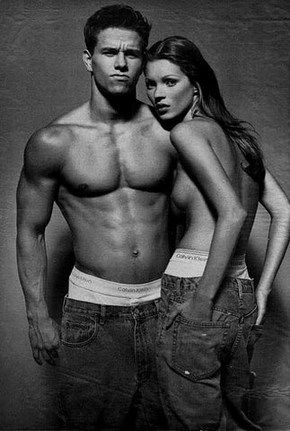 Mark Wahlberg and Kate Moss for Calvin Klein
