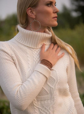 Skull Cashmere Ophelia Sweater with Chan Luu jewelry