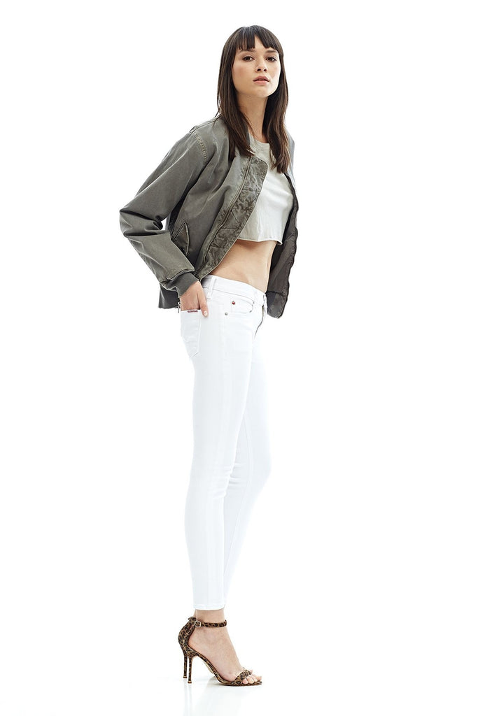 Nico Mid Rise Ankle Super Skinny - White