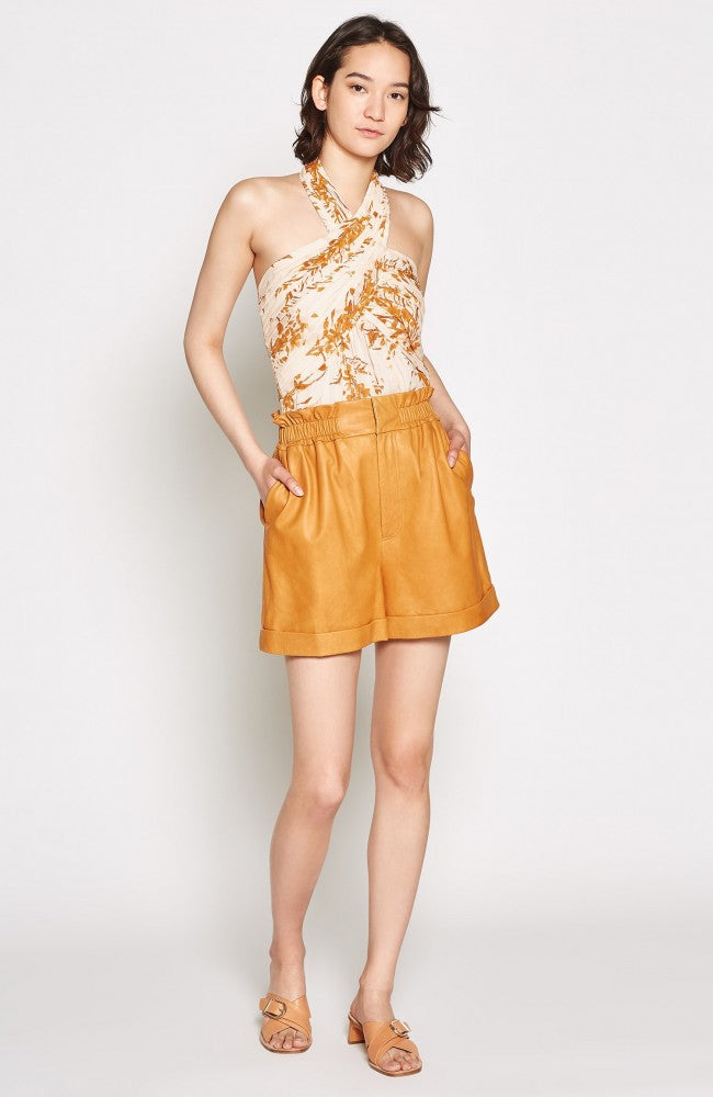 Damein Silk Top - Peach Cream