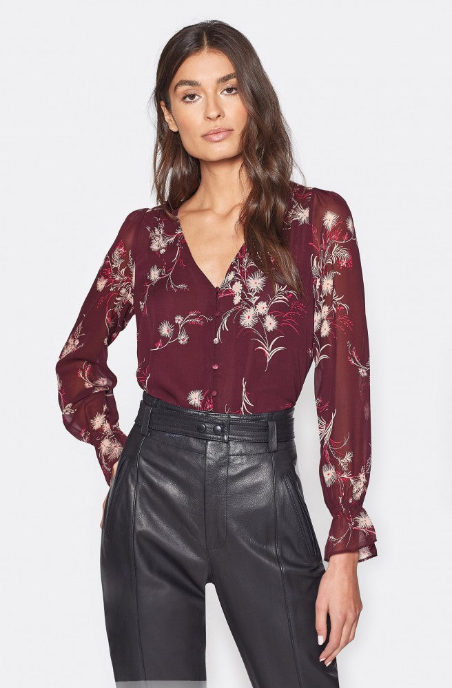 Bolona C Silk Top - Plum