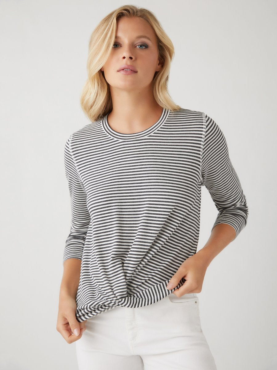Drape Front Top - Stripe