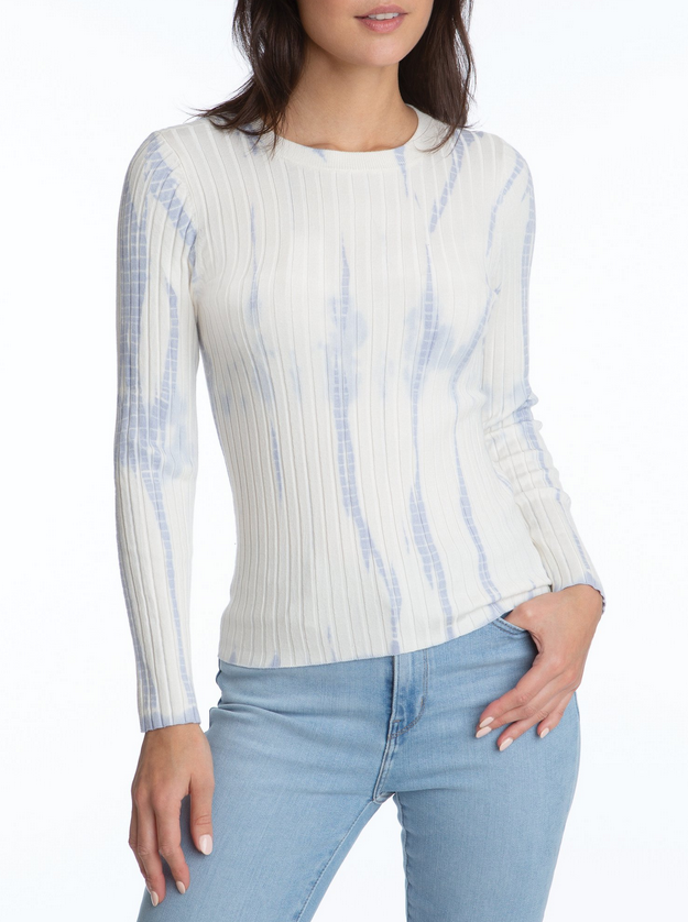 Wide Rib Tie Dye Pullover - Blue Cloud Multi
