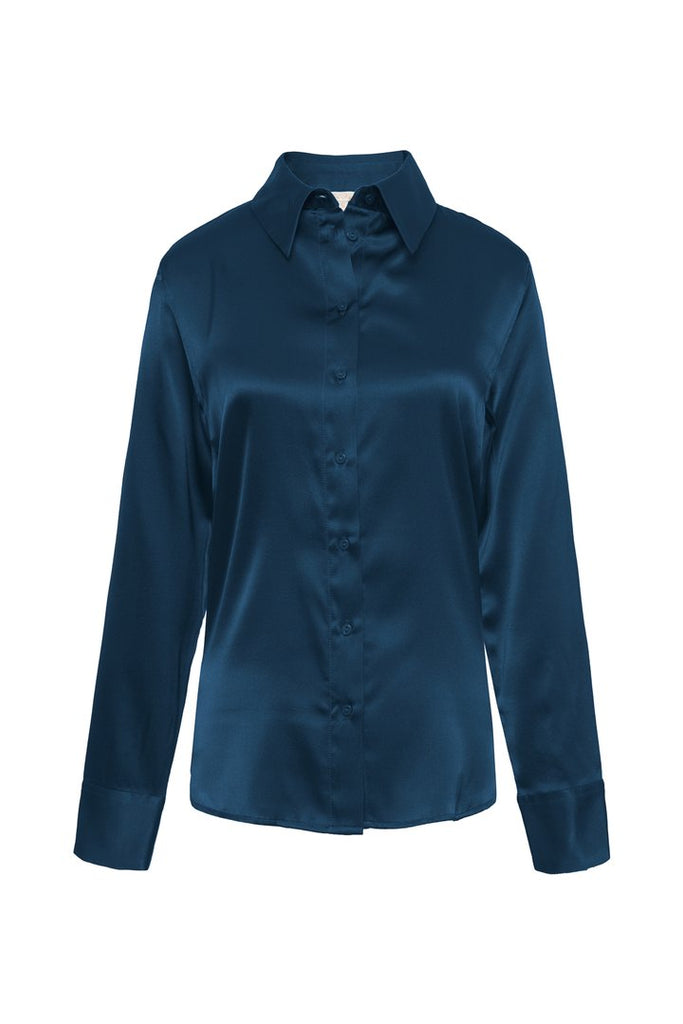 Farrah Shirt - Tanzanite Blue