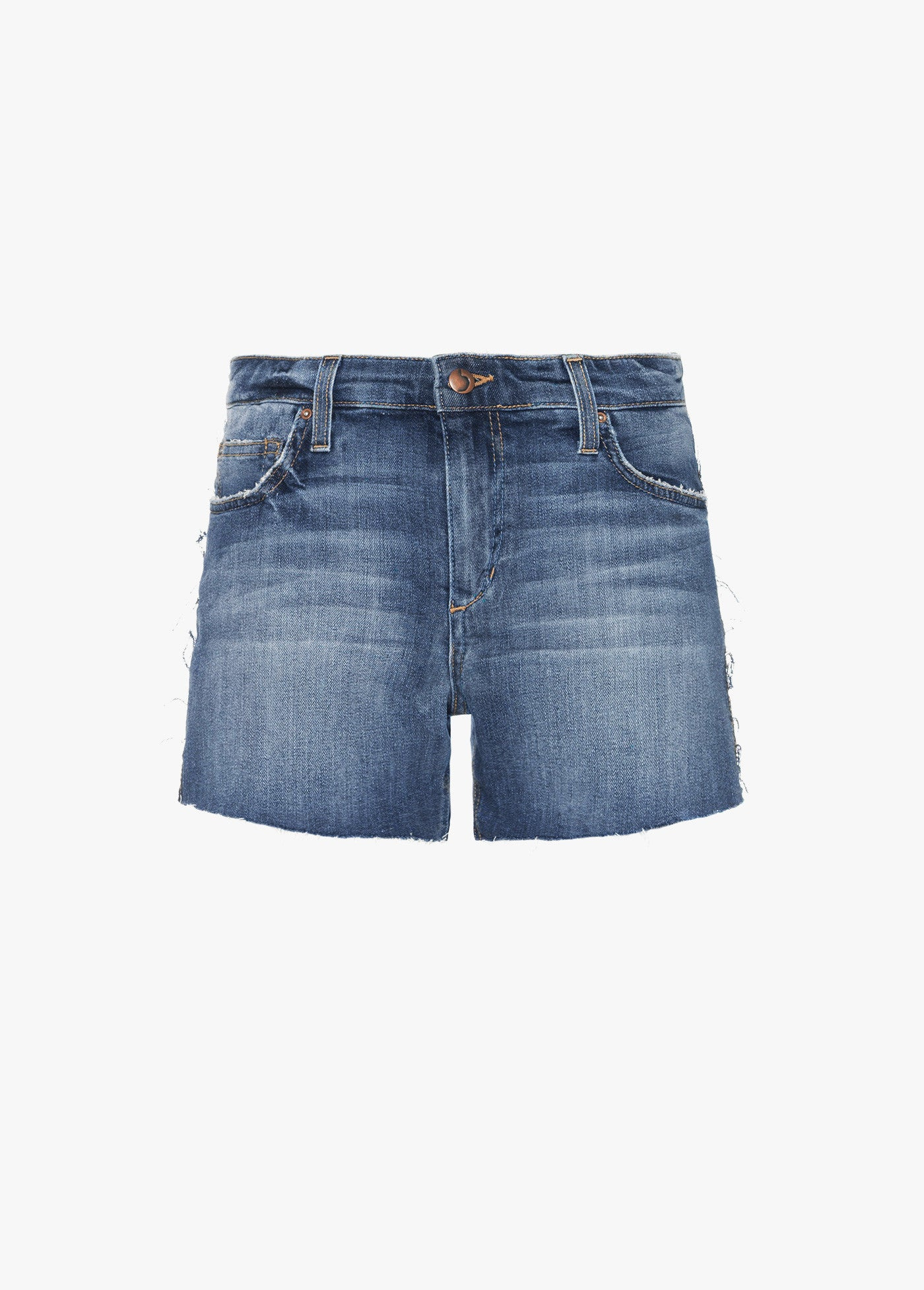The Ozzie Mid Rise Cut-Off Shorts - Leighla