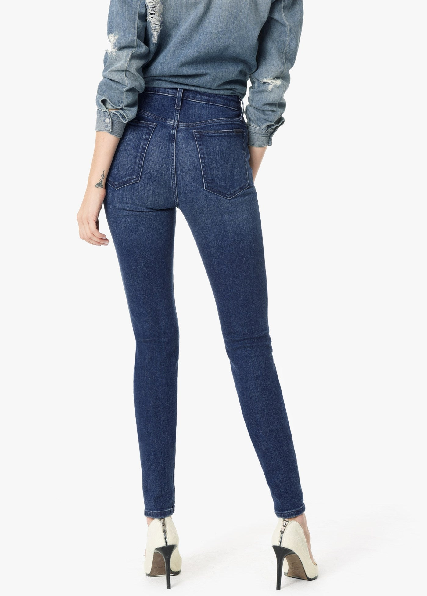 The Charlie High Rise Skinny Ankle - Everly